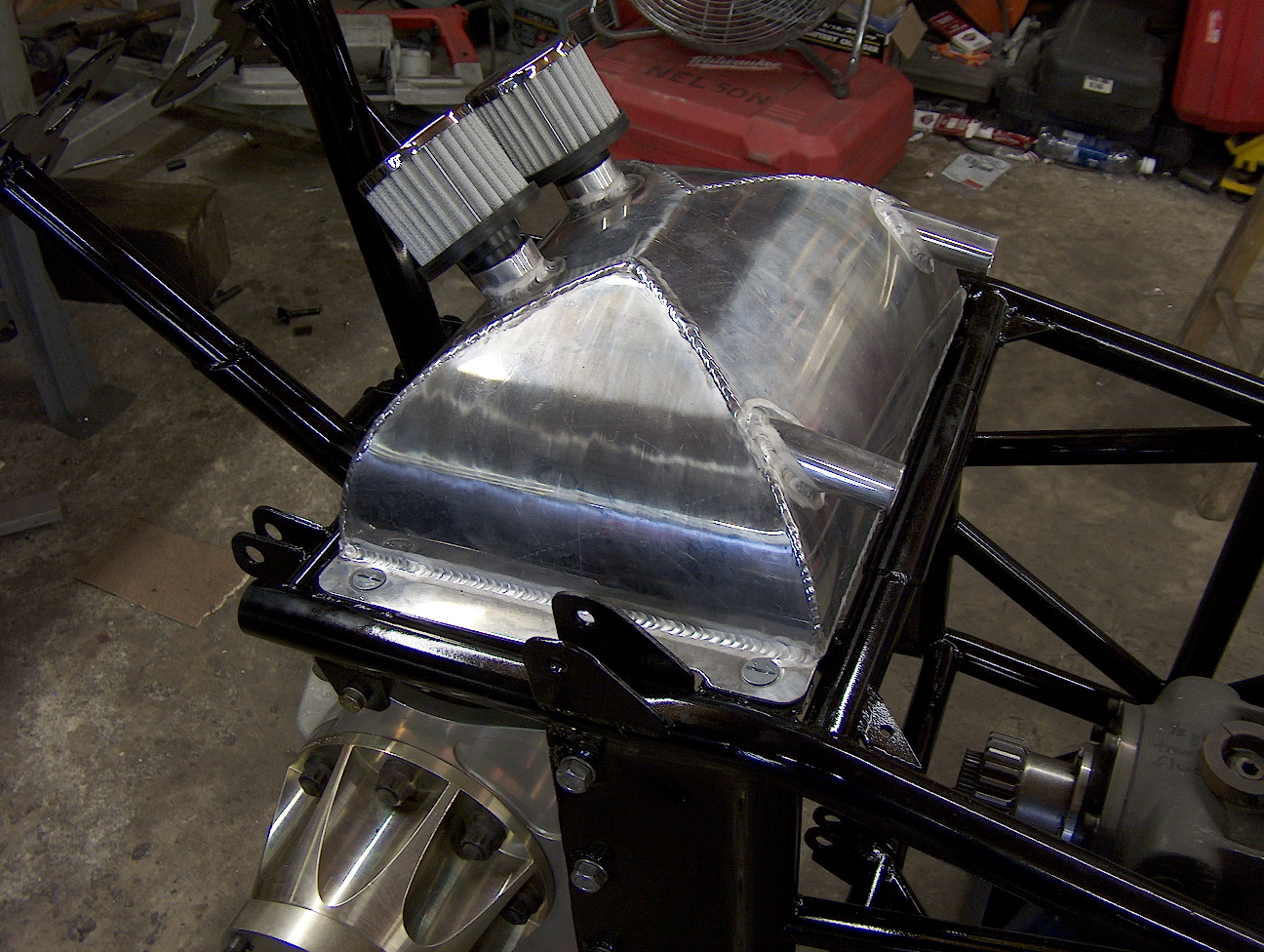 Custom Puke Tank for a Dragster